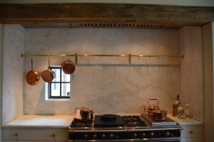 Pot Rack Brass Kitchen