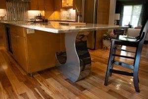 contemporary post kitchen chrome